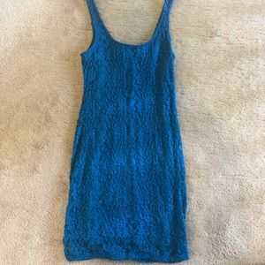 Lacy turquoise Material Girl Dress, size M